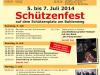 Schützenfest Plakat 2014