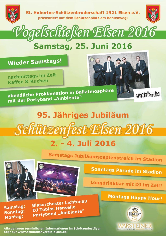 Schützenfest-Plakat 2016